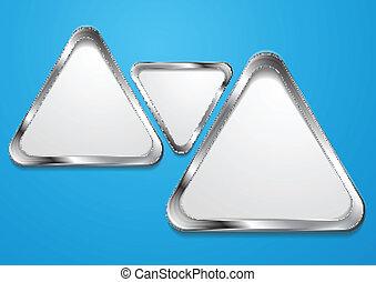 forme, astratto, vettore, cornice, argento