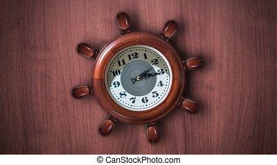 forme, barre, horloge, ship's
