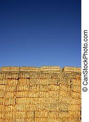 forme carrée, céréale, pile, colonnes, grange