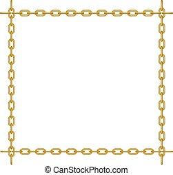 forme, carrée, chaîne