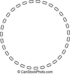 forme, cercle, chaîne
