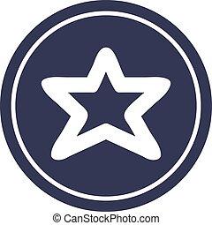 forme, circulaire, étoile, icône