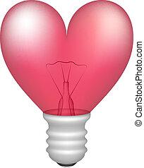 forme coeur, ampoule