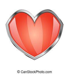 forme coeur, bouclier
