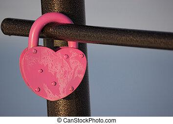forme coeur, cadenas