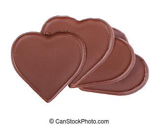forme coeur, chocolat