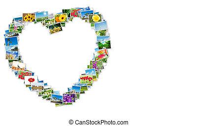 coeur fait form collage voyage photos passion photo de stock rechercher. Black Bedroom Furniture Sets. Home Design Ideas