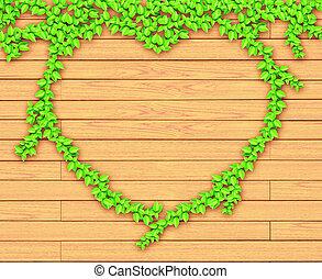 coeur plante form liane bois vert planche photographie de stock rechercher des images. Black Bedroom Furniture Sets. Home Design Ideas