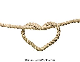 forme coeur, noeud