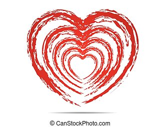 forme coeur, symbols., amour, conception