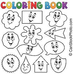 forme, coloritura, 2, vario, libro