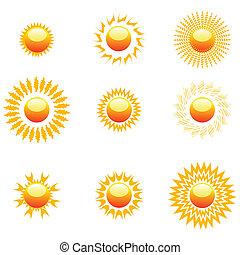 forme, di, sole