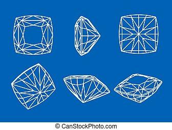forme, diamond., collezione