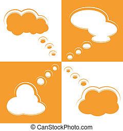 forme, ensemble, parole, bulles, nuage