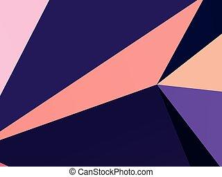 forme geometriche, wallpaper., il, combinazione, di, triangoli, e, irregolare, squadre, rettangoli