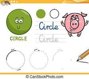 forme, geometrico, cartone animato, fondamentale