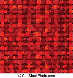 forme, geometrico, sfondo rosso