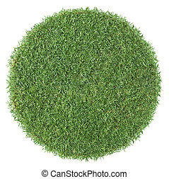 forme, herbe, rond