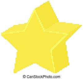 forme, jaune, géométrique, étoile