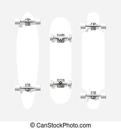 forme, longboard, skateboard, vuoto