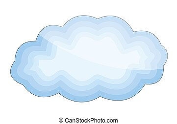 forme, lustré, nuage