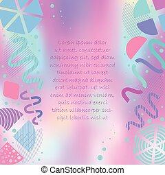 forme, manifesto, astratto, luminoso, colorito