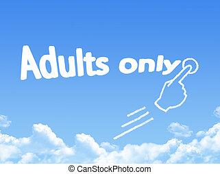 forme, message, seulement, nuage, adultes
