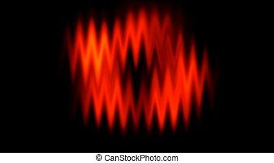forme onde, arrière-plan rouge