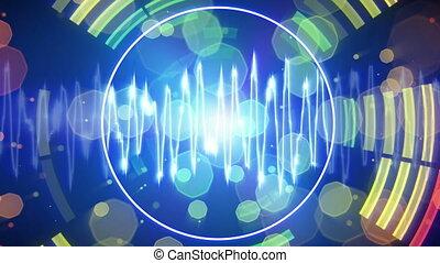 forme onde, audio, battre, compensateur