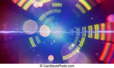 forme onde, compensateur, battre, audio