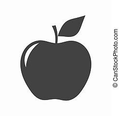 forme, pomme, icône