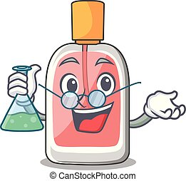 forme, prof, parfum, botlle, dessin animé