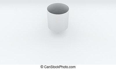forme, render, engendré, fond, cylindre, change., transformation, géométrique, 3d, disk., informatique