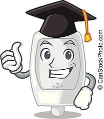 forme, urinoir, remise de diplomes, dessin animé
