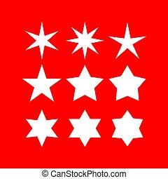 forme, vecteur, étoile