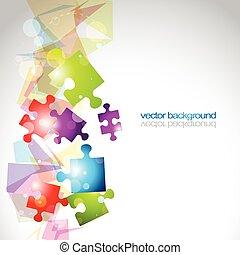 forme, vecteur, puzzle, résumé, fond