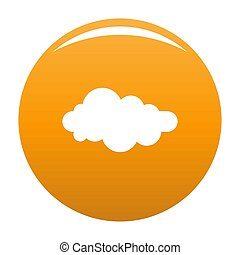 Formed cloud icon orange