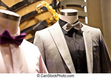 formeel, concept, kostuum, mode