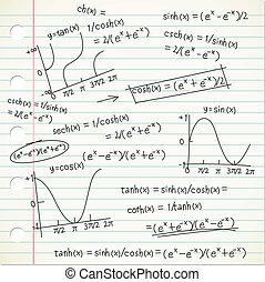 formel, mathe, gekritzel