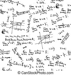 formeln, mathe, seamless, hintergrund, tafel