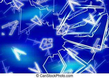 formen, blaues, weißer hintergrund