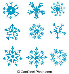 formen, von, schneeflocken