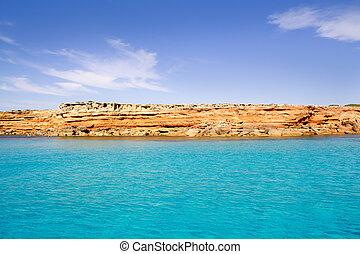 Formentera balearic island from sea west coast