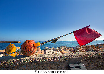 Formentera Balearic Islands fishing tackle nets longliner ...
