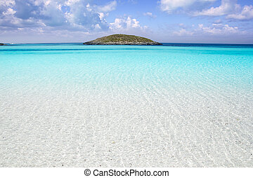 Formentera beach illetas white sand turquoise water perfect Balearic paradise