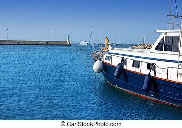 Formentera island marina La Savina in Balearic