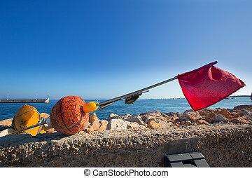 formentera, longliner, equipo de pesca, islas, balear, redes