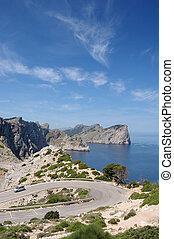 Formentor headland vert - Formentor headland from the cape...