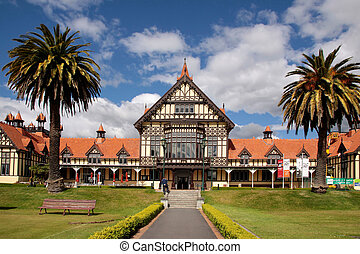 Former Bath House Tudor Towers, Rotorua, New Zealand