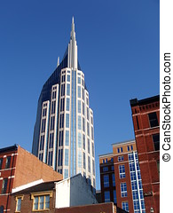 The former Bell South building seen in downtown Nashville, TN.
